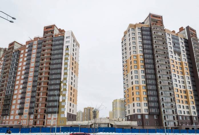 Строительство ЖК «Балтийская волна» (вид с улицы Маршала Казакова): 28.02.16