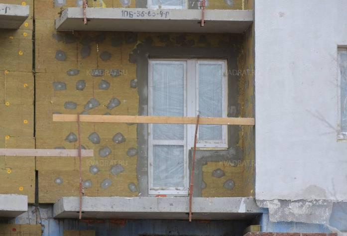 Строительство ЖК «Квартет» (фасад)