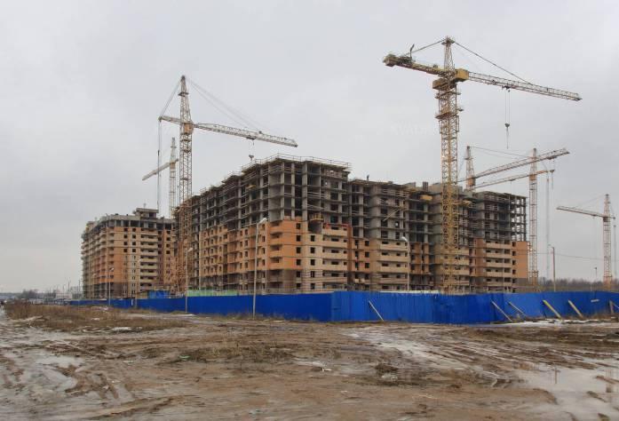 Строительство ЖК «Новое Янино» (внешний вид)