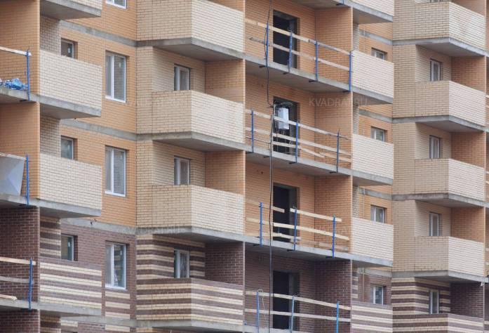 Строительство ЖК «Новое Янино» (фасад)