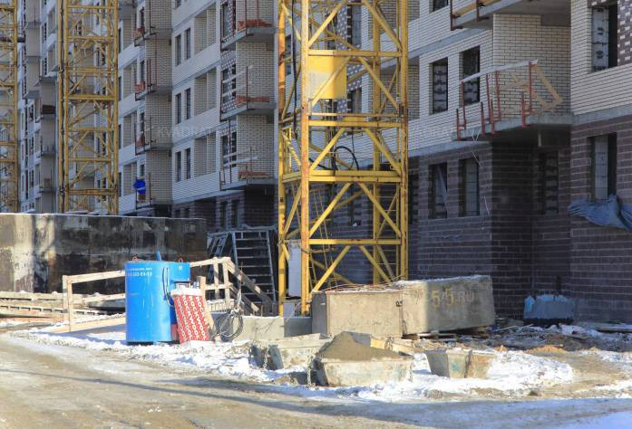 Строительство ЖК «Новые Горизонты» (во дворе): 16.02.16