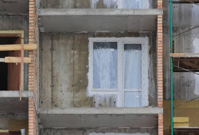 Строительство ЖК «Правый берег-2» (фасад): 17.02.16