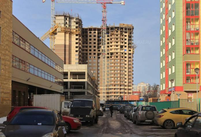 Строительство ЖК «Пулковский 3» (внешний вид): 18.02.16