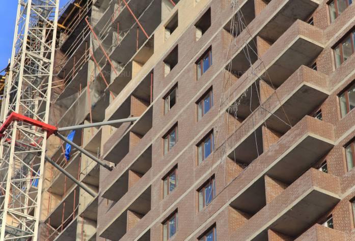 Строительство ЖК «Пулковский 3» (фасад): 18.02.16