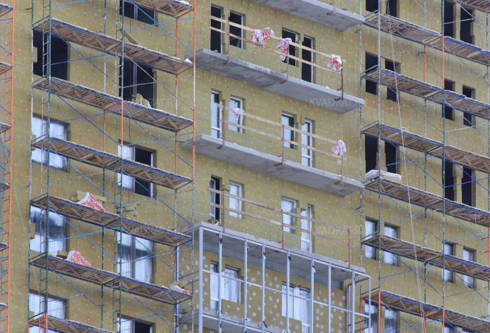 Строительство ЖК «София» (фасадные работы)