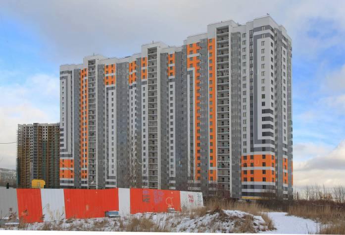 Строительство ЖК «София» (построенный корпус)