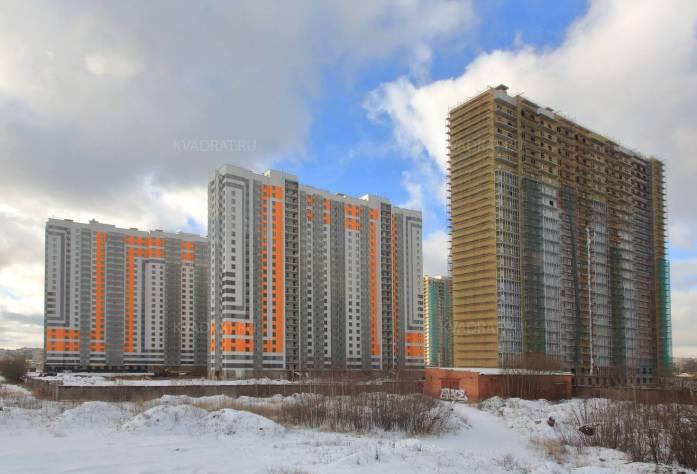 Строительство ЖК «София» (общий вид на корпуса)