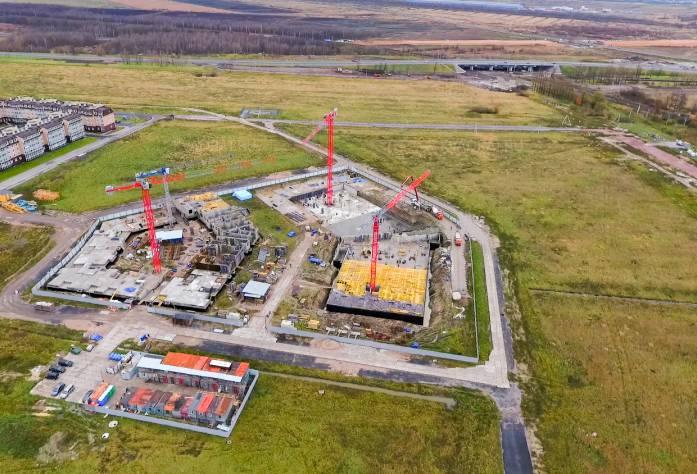 Жилой комплекс «Неоклассика»: ход строительства (аэросъемка, октябрь 2016)