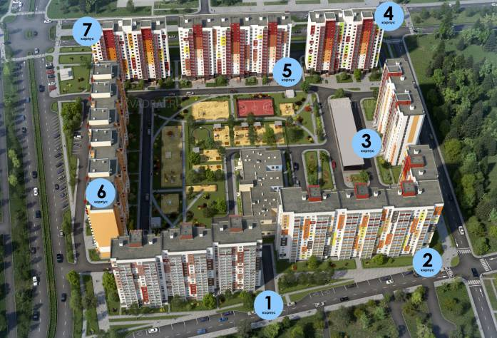 ЖК «Радужный», квартал 6: визуализация