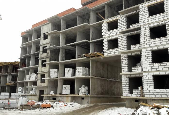 ЖК «Дом с фонтаном»: территория строительства (февраль 2017)