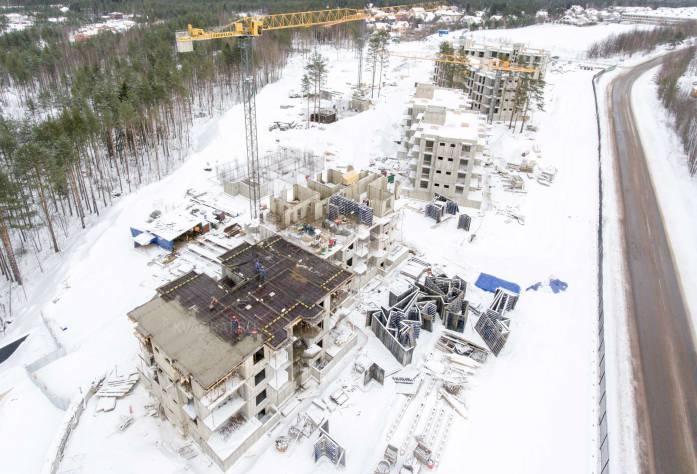 ЖК «Горки Парк»: ход строительства (февраль 2017)