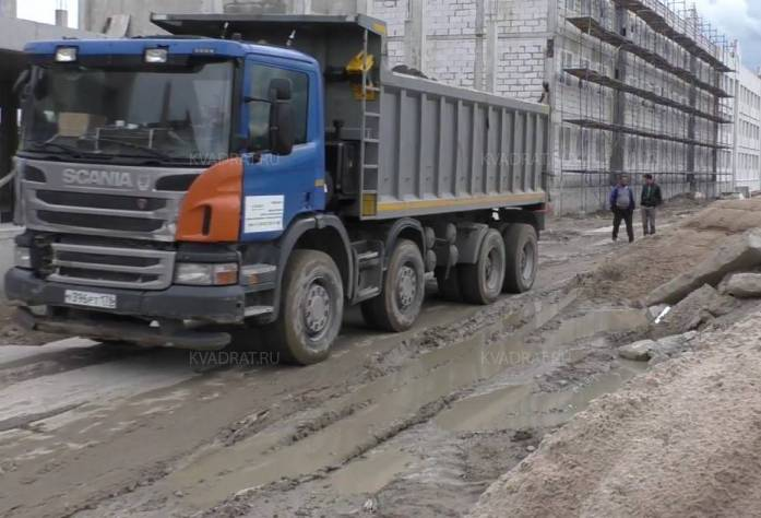 Строительство ЖК «Румболово Сити» (август 2017)