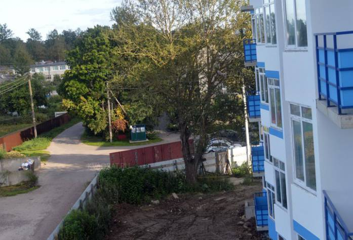 ЖК «Дом с фонтаном»: территория строительства (сентябрь 2017)
