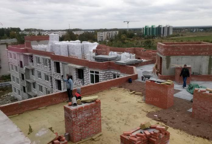 ЖК «Дом с фонтаном»: ход строительства (2 октября 2017 года)
