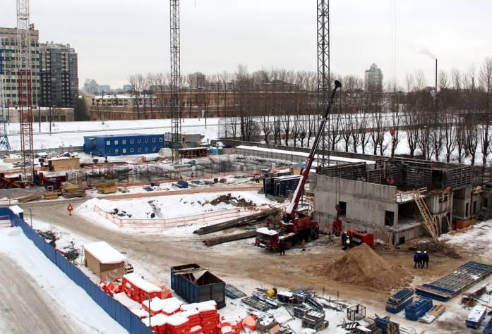 ЖК «Георг Ландрин»: ход строительства (февраль)