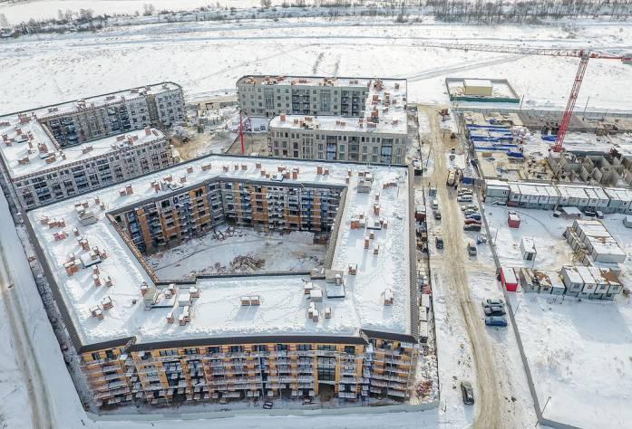 Жилой комплекс «Неоклассика»: ход строительства 1 очереди (март, 2018)