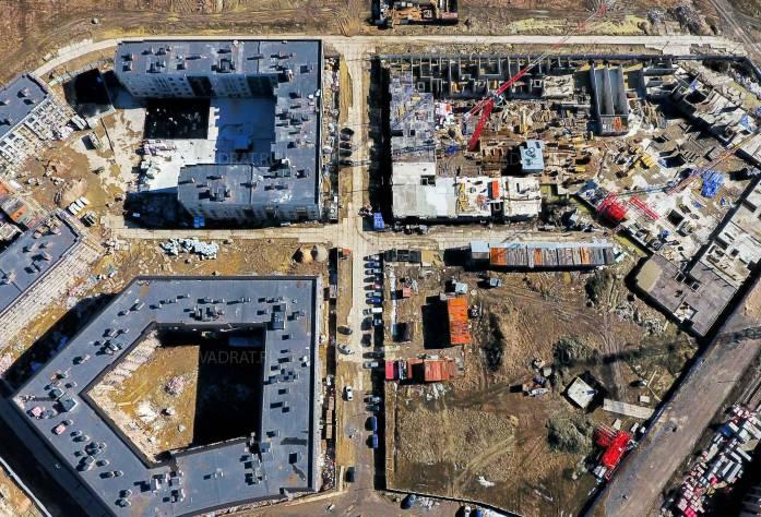 Жилой комплекс «Неоклассика»: ход строительства 2 очереди (апрель, 2018)