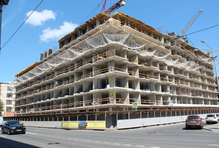 ЖК «Георг Ландрин»: ход строительства (июнь)