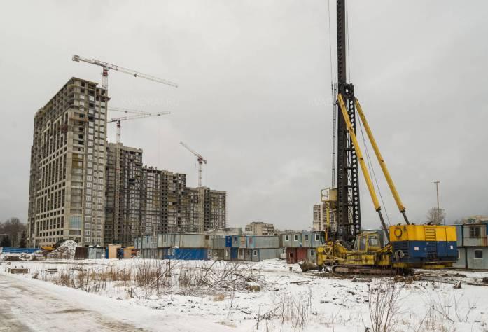 Строительство ЖК «Green City» (вид издалека): 05.02.16