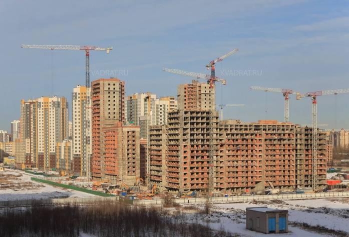 Строительство ЖК «Триумф Парк» (общий вид на комплекс)