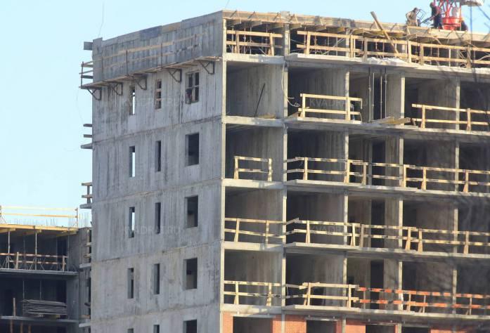 Строительство ЖК «Триумф Парк» (возведение шестого этажа)