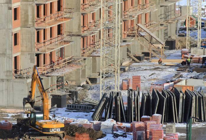 Строительство ЖК «Триумф Парк» (строительная площадка)