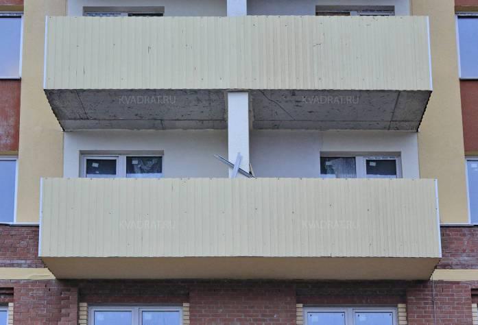 Строительство ЖК «Янинский каскад-3» (фасад)