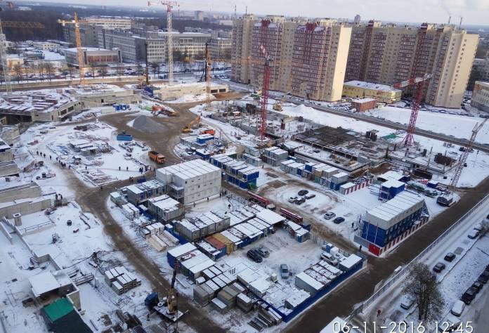 Жилой комплекс «Полюстрово парк»: ход строительства (ноябрь 2016)