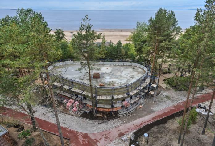 Санаторно-курортный комплекс «Светлый мир «Внутри»: 2 очередь. Сентябрь 2017 года