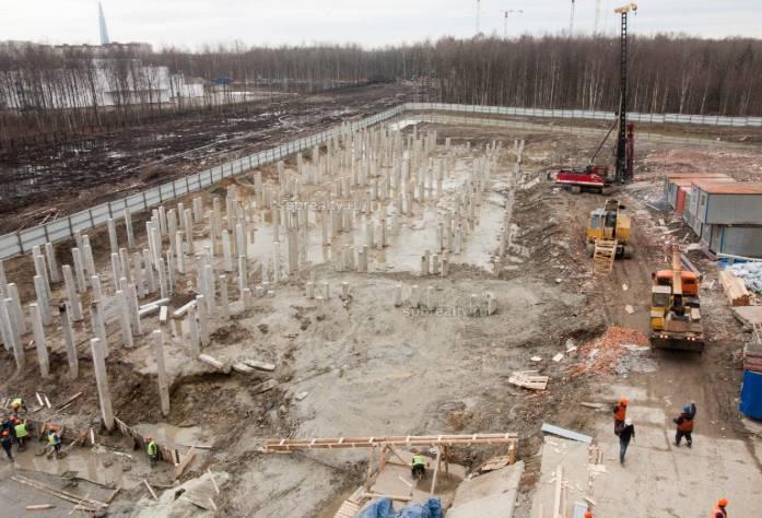 Ход строительства ЖК «Полис на Комендантском»: июнь 2018 г.